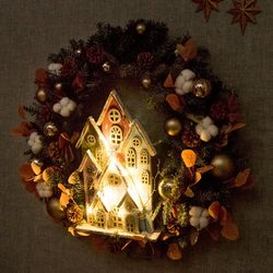 LED세븐하우스그레이리스 750mm P 크리스마스 TRWGHM