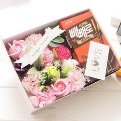 플라워빼로박스(핑크) 막대과자 수능 과자 초콜릿선물
