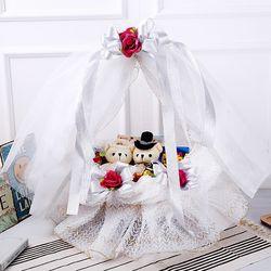 웨딩바구니(화이트) 막대과자 수능 과자 초콜릿 선물
