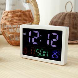 티메이드 빅패널 LED 탁상시계 화이트 - 날짜온도표시