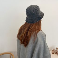 워싱 버킷햇 여성 벙거지 모자 버킷햇