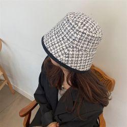 트위드 벙거지 여성 가을 겨울 니트 벙거지 모자