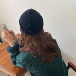 미니 비니 여성 가을 겨울 니트 벙거지 모자