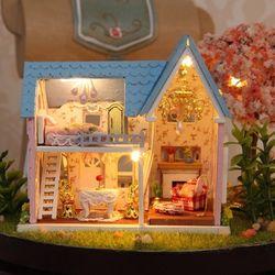 DIY 미니어처하우스 파란지붕 토끼