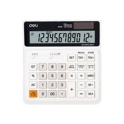 DELI 계산기 KEM01010WH 화이트(규격:150x160mm12자리)