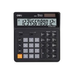 DELI 계산기 EM01020BK 블랙(규격:150x160mm12자리)