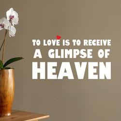 Love is heaven 명언 감성 레터링 인테리어 스티커 small