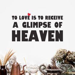 Love is heaven 명언 감성 레터링 인테리어 스티커 large