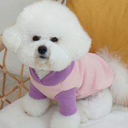 따뜻한 소형견 강아지 겨울 기모 후드티