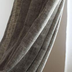 올리브 헤링본 커튼(세로길이 150이하)