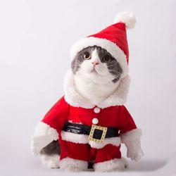 크리스마스 코스프레 산타 강아지옷 고양이 코스튬