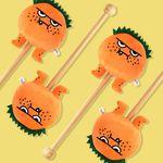 오렌지몬 캐릭터 안마봉 35cm 이색선물 스위트몬스터