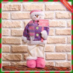 귀여운 눈사람 인형(핑크)(23cmx52cm)