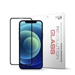 아이폰12 레볼루션글라스 3D라운드 풀커버 강화유리 액정 필름