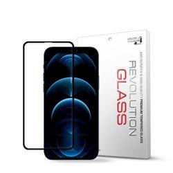 아이폰12프로맥스 레볼루션글라스 3D라운드 풀커버 강화유리필름
