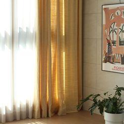 옐로 헤링본 커튼(세로길이 150이하)