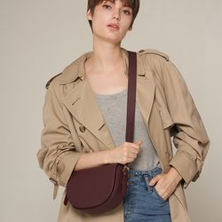 엘노이 Miu Bag Burgundy