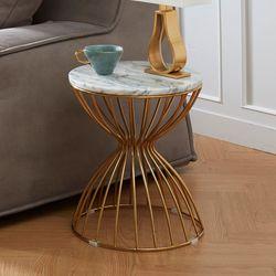 사이드테이블 천연대리석 원형 골드 테이블