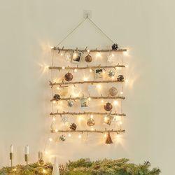 크리스마스 벽트리 풀세트 엔틱브라운 전구포함