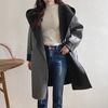 Woolen Fabric Hood Open Jacket