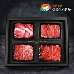 한우1++등급 명품선물세트 23호 꽃등심 안심 1.3kg
