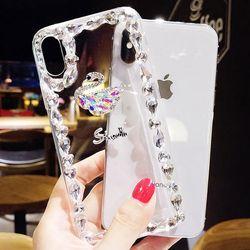 갤럭시M51 스완 다이아몬드 큐빅 젤리 케이스 P165