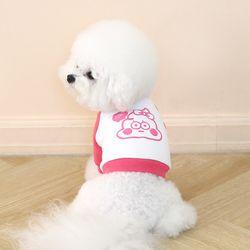 누또 크레용 크롭 맨투맨 티셔츠 - 핑크