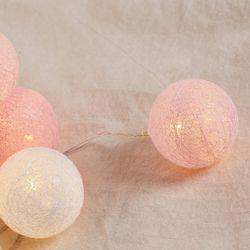 LED 코튼볼 핑크 무드등수유등조명 20구