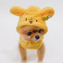 디즈니 푸우 강아지 샤워가운