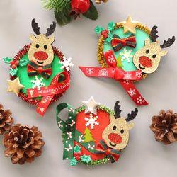 크리스마스 광목브로치 10set
