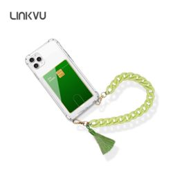 Linkvu 카드업 파스텔 테슬 체인스트랩 갤럭시S케이스