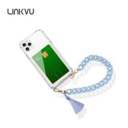 Linkvu 카드업 파스텔 테슬 체인스트랩 갤럭시A케이스