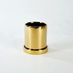 원형라운드화분 H10cm 골드