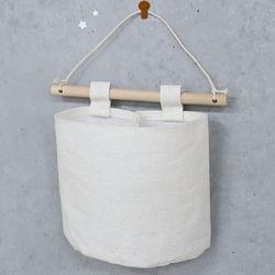 에코걸이바구니(1개)수납걸이천무지
