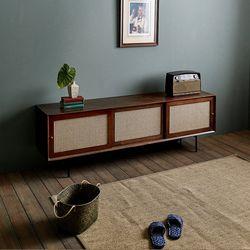 [스크래치] 장미맨숀 로라 라탄 거실장 1800 (브라운)