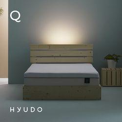 편안한 선유 저상형 베이직 LED 원목침대 프레임 (Q)
