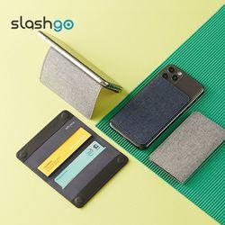 슬래쉬고 더블 핸드폰 부착형 카드 지갑 케이스 slashgo