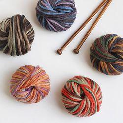 울 믹스 뜨개 털실 (5colors)