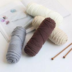양모 베이직 뜨개 털실 (4colors)