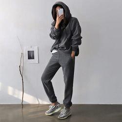 [Set] Perfect Warm Hood Sweatshirt   Jogger Pants
