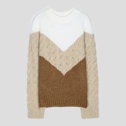 루즈핏 컬러블록 스웨터 MIWKAAV37T
