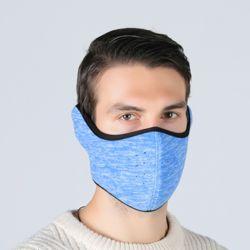 플리스 귀마개 방한 마스크(스카이)