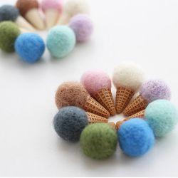 미니 아이스크림콘 장식 10개 세트(16colors)