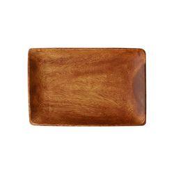 아카시아 우드 직사각 플레이트 나무 접시 1호