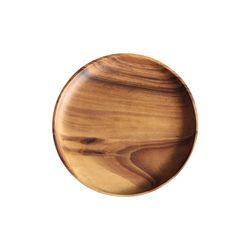 아카시아 우드 원형 플레이트 다용도 나무접시 2호