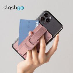 슬래쉬고 보우 핸드폰 그립 거치대 카드 지갑 케이스 slashgo