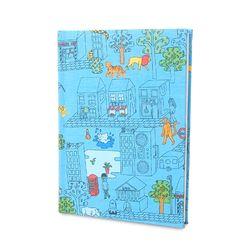 DIY북아트1216 동물도시 파랑 (노트만들기KIT)