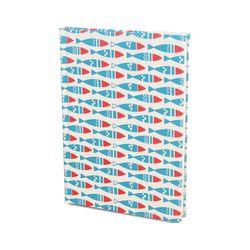 DIY북아트1216 파랑물고기 아이보리 (노트만들기KIT)