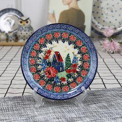 폴란드그릇 아티스티나 원형 접시 16cm 유니캇u4025