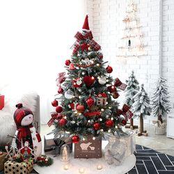 크리스마스트리 PE고급트리 중형트리 플로렌스레드 1.3M 풀세트